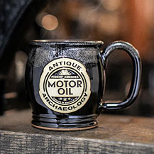 Handmade Ceramic Motor Oil Mug