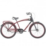 Felt Red Wolfe Bicycle: Antique Archaeology 3-SP Cruiser