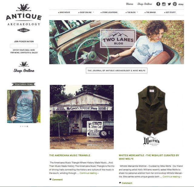 mike wolfe, antique archaeology, american pickers, vintage tee, vintage home decor, back roads travel blog