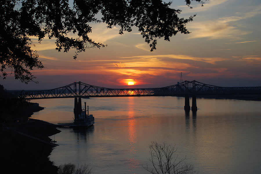 sunset photos natchez ms