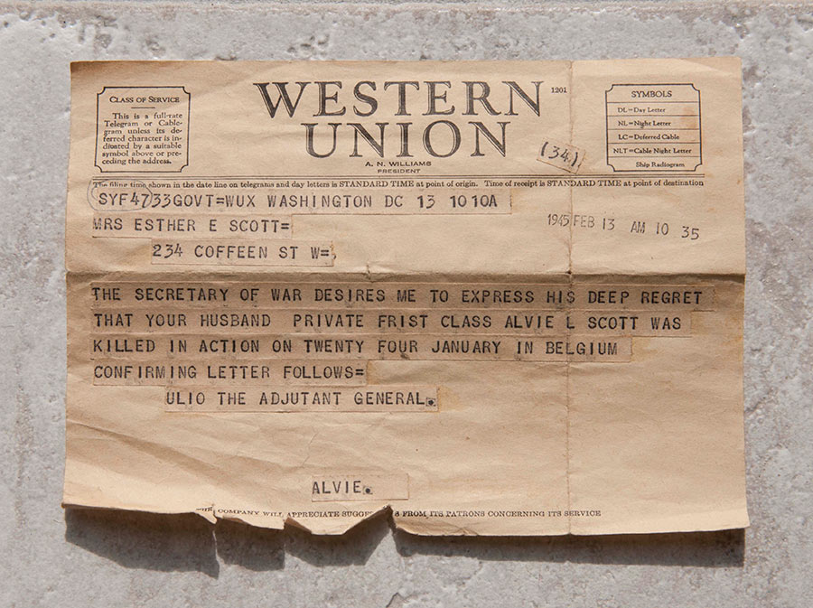 war notice telegram