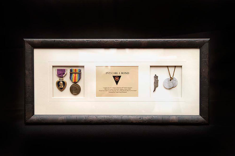 purple hearts framed
