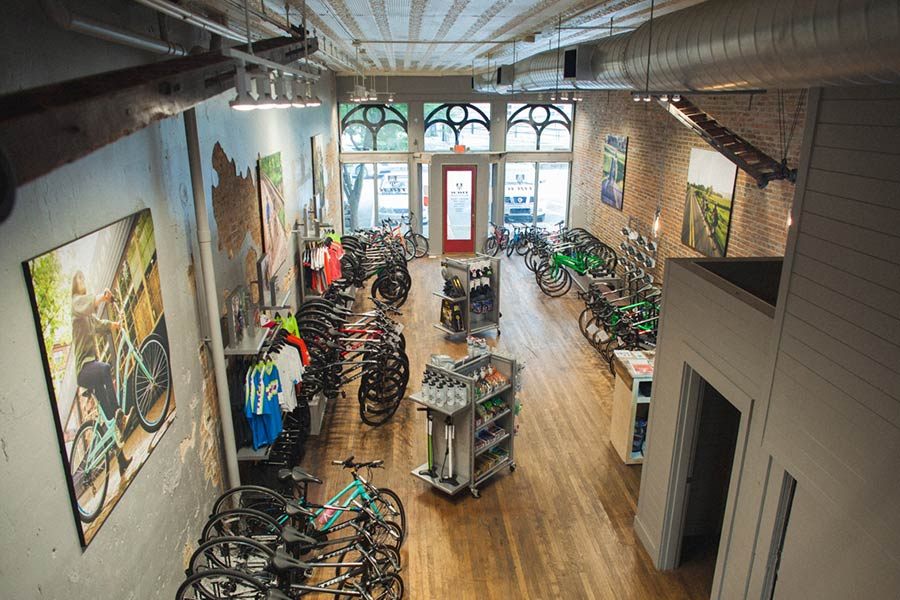 Interior of Renovated Trek Bicycle Shop