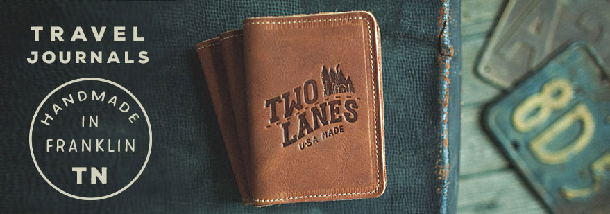 Two Lanes Leather Travel Journal